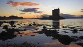 Castle Stalker at Sunset, Port Appin, Argyll, Scotland