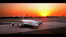 Emirates Airbus At Sunset
