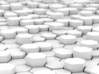 Hexagon White Blocks