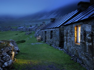 Houses in the abandonded village of Hirta