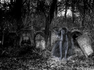 Cemetery Horror Wallpaper