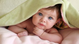 Cute baby peek-a-boo wallpaper