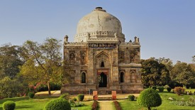 Ornate tomb at Lodi Gardens, Delhi, India