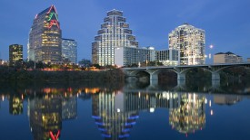 City Skyline along Town Lake, Austin, Texas, USA