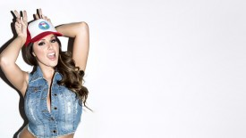 Lucy Pinder Denim Top Wallpaper
