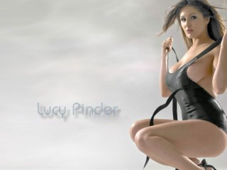 Lucy Pinder Topless Wallpaper