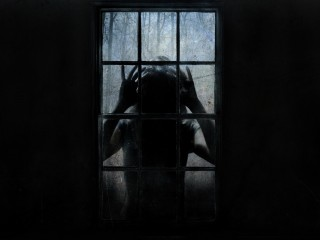 Scary Window Panes Wallpaper