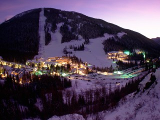 Taos Ski Valley in Evening