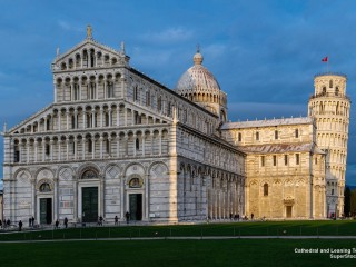 Cathedral and Leaning tower in Pisa Italy