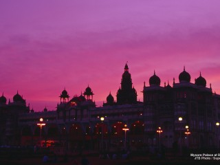 Mysore Palace at Dusk, India