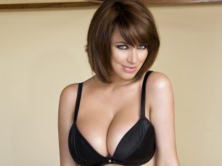 Sophie Howard Black Bra Wallpaper