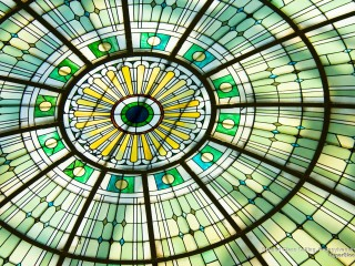 Stained Glass Ceiling, Pennsylvania Station, Baltimore, Maryland