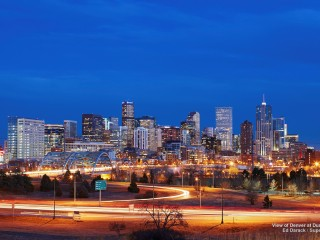 View of Denver at Dusk, Colorado
