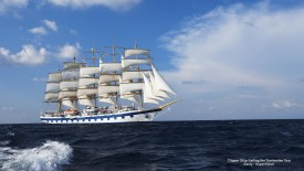 Clipper Ship Sailing the Tyrrhenian Sea