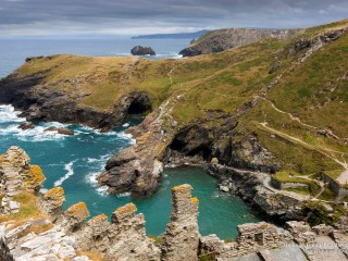 Ruins of Tintagel Castle, Cornwall, England