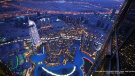 View from the Burj Khalifa, Dubai, United Arab Emirates