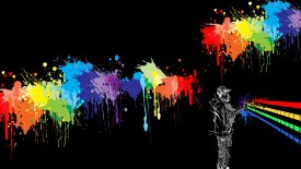 Abstract Colorful Spray Paint Wallpaper