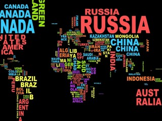 Country Name World Map Desktop Wallpaper