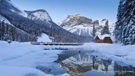 Emerald Lake in Winter, Yoho N.P., British Columbia