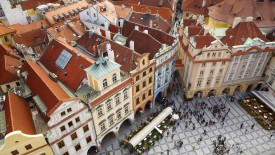 Old Town Square From Clock Tower, Prague, Czech Republic