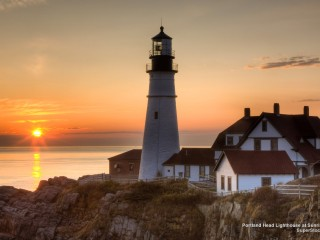 Portland Head Lighthouse at Sunrise, Cape Elizabeth, Maine