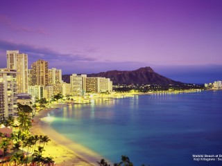 Waikiki Beach at Dusk, Oahu