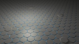 3d Grey Color Hexagons