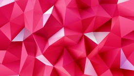 3d Pink Triangles