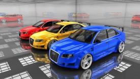 Audi Cars Showroom 3d