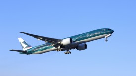Cathay Pacific Boeing 777 In Flight