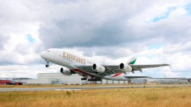 Emirates Airbus A 380 Take Off