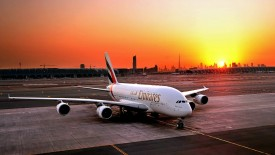 Emirates Airplane At Airport