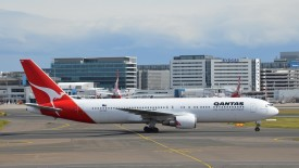 Qantas Boeing 767 At Airport