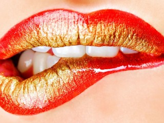 Beautiful Lips Erotic Seduction Wallpaper