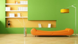 Amazing Interior Decoration Wide Screen Wallpaper Green Wall