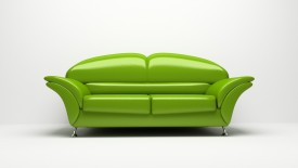 Beautiful Green Color Sofa Interior Design