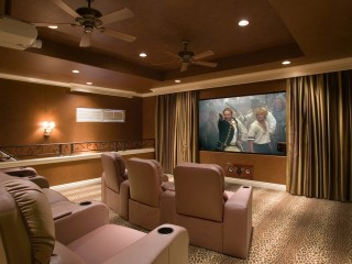 Interior Bright Home Theater Hall
