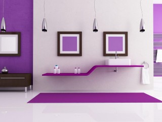 Purple Color Interiors Sweet Home