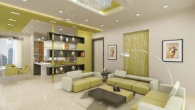 White And Green Yellow Home Interiors
