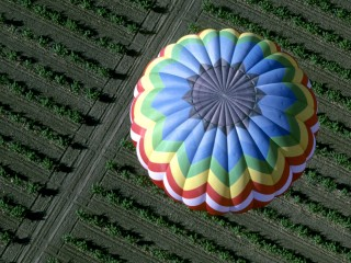 Hot Air Balloon From Above