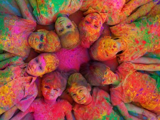 Indian Holi Festival Colorful Wallpaper