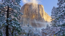 El Capitan in Winter, Yosemite National Park, California