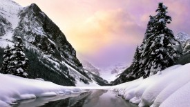 Lake Louise in Winter, Banff National Park, Alberta, Canada