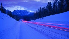 Light Trails, Jasper National Park, Alberta, Canada