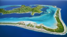 Barrier Reef Around Mount O' Temanu, Bora Bora, Tahiti