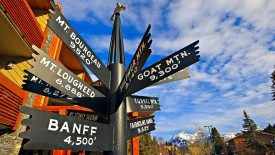 Directional Sign, Banff National Park, Alberta