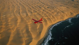 Flying Over the Namibian Coastline, Namibia