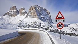 Road to Sella Pass, Sassu Lungo, Italy