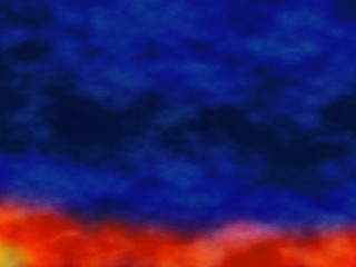 Red Blue Smoke Abstract