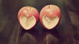 Apples Cut In Heart Shape